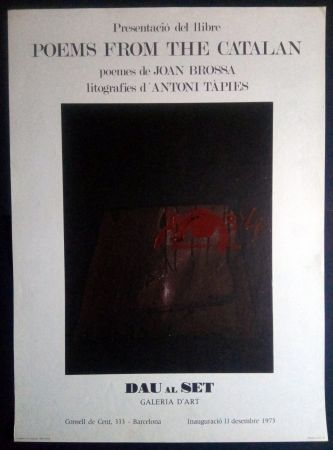 Poster Tàpies - Poems from the Catalan - Tàpies / Brossa 1973