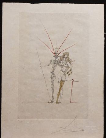 Etching Dali - Poems Secrets Frontispiece