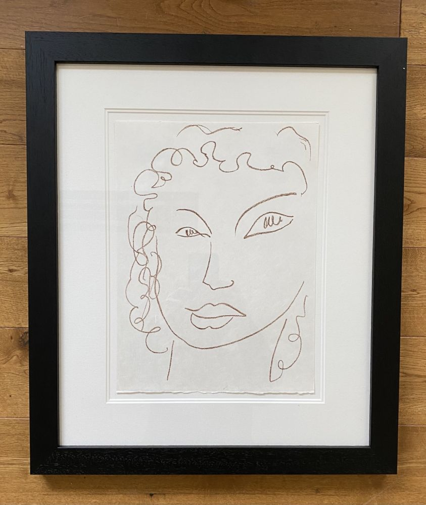 Lithograph Matisse - Poesies Antillaises - Number J.1