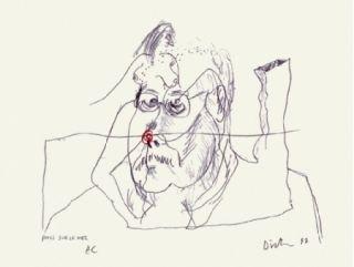 Screenprint Dietman - Poils sur le nez