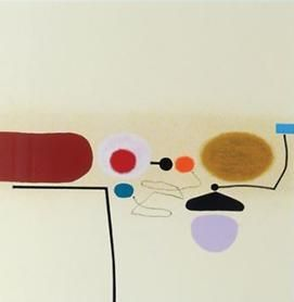 Screenprint Pasmore - Points of contact 34