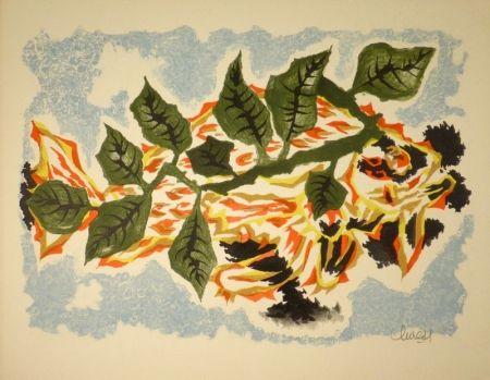 Lithograph Lurcat - Poisson feuillage