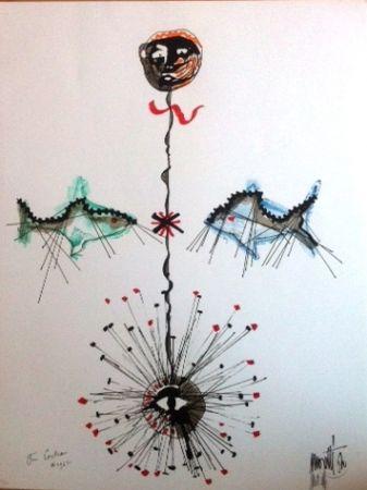 Lithograph Cocteau - Poissons et l'etoile