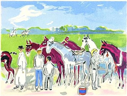Lithograph Van Dongen - Polo or Deauville