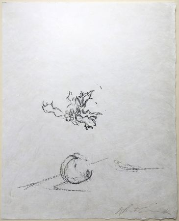 Lithograph Giacometti - Pommme Endormie. Lithographie Originale Signée