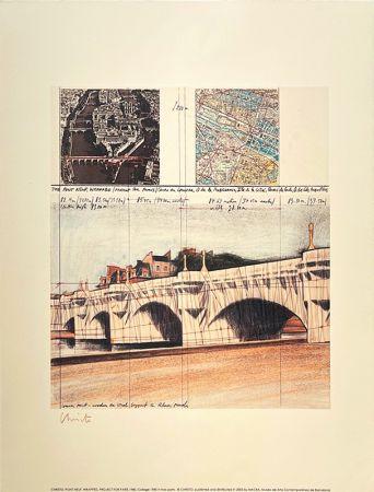 Lithograph Christo - Pont neuf, Paris