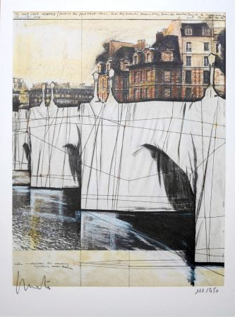 Lithograph Christo - Pont Neuf Wrapped