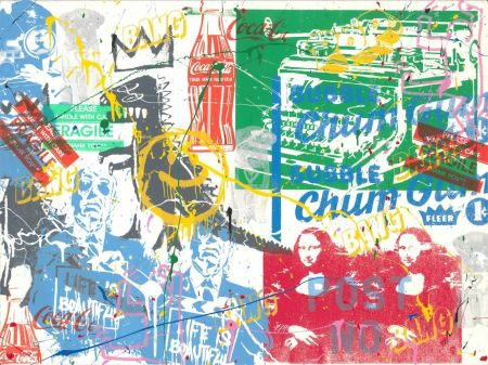 Screenprint Mr Brainwash - Pop Scene