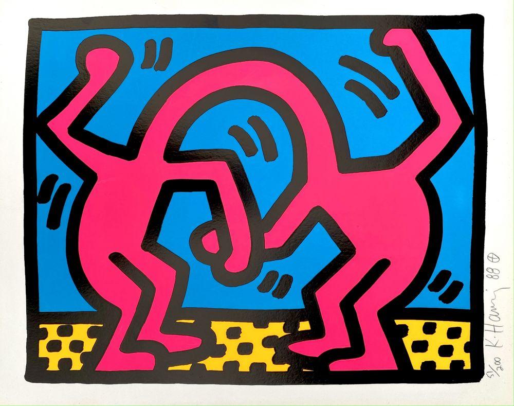 Screenprint Haring - Pop Shop II, D