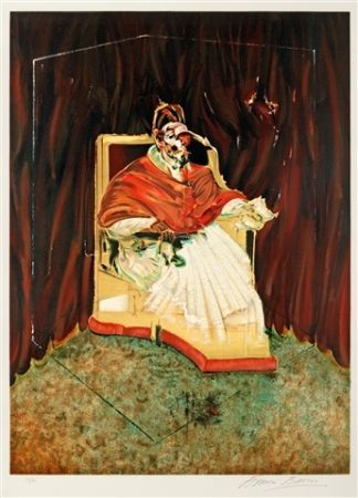 Lithograph Bacon - Pope innocent X