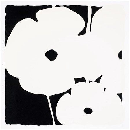 Screenprint Sultan - Poppies, June 3, 2011 (White)