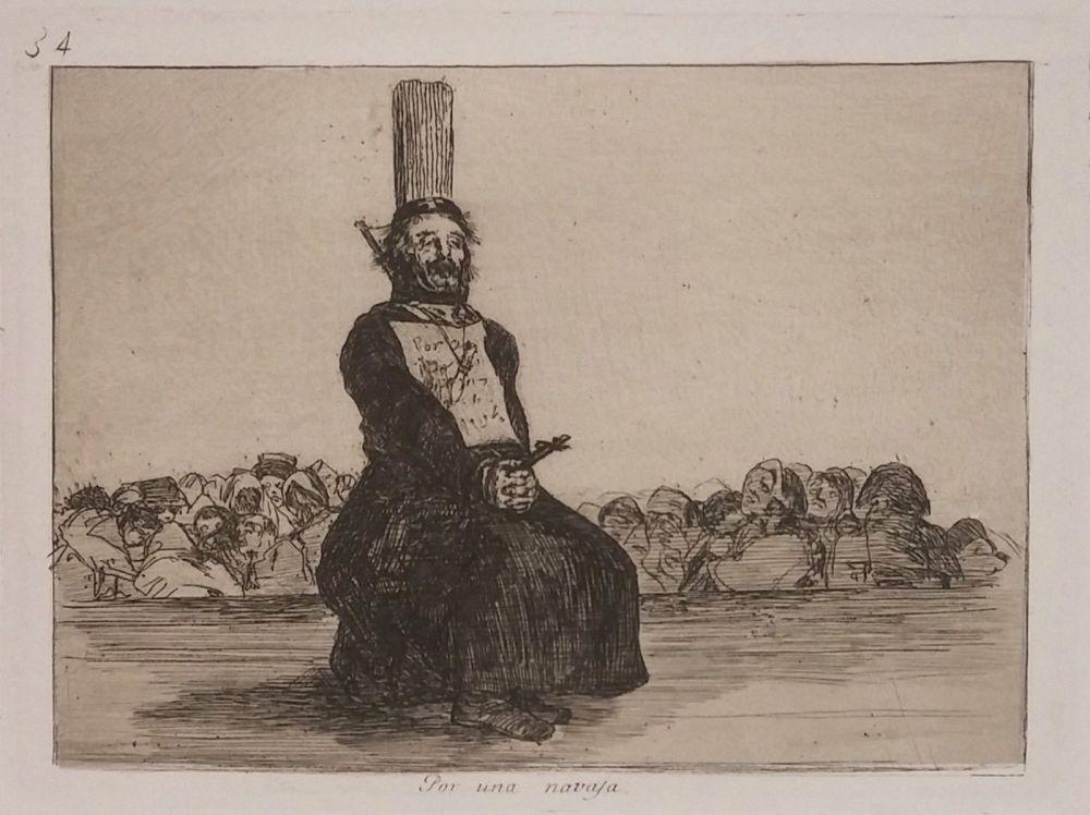 Etching Goya - POR UNA NAVAJA