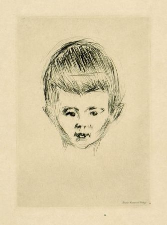 Drypoint Munch - Portait of Andreas Schwarz