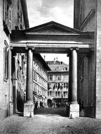 Lithograph Fontanesi - Porte de la Treille