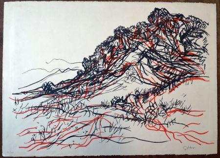 Lithograph Guttuso - Portella delle Ginestre