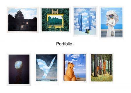 Lithograph Magritte - Portfolio I, Suite de 8 lithographies