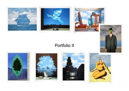 Lithograph Magritte - Portfolio II , Suite de 8 lithographies