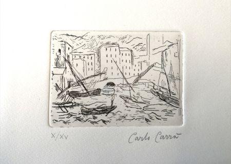 Engraving Carra - Porto di Camogli II