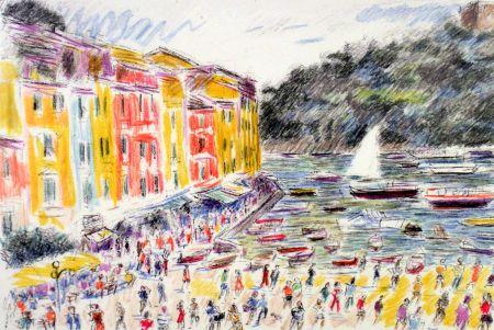 Lithograph Cascella - Portofino