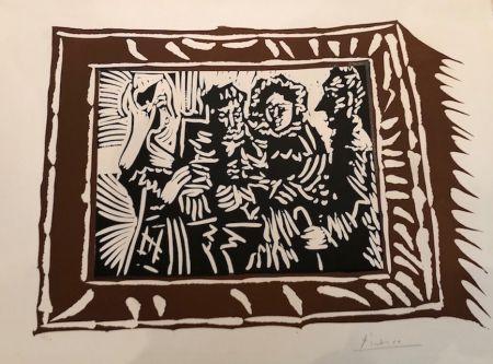 Linocut Picasso - Portrai de famille ingresque IV