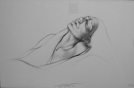 Lithograph Pignon-Ernest - Portrait