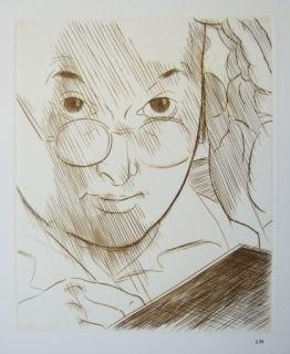 Drypoint Marcoussis - Portrait