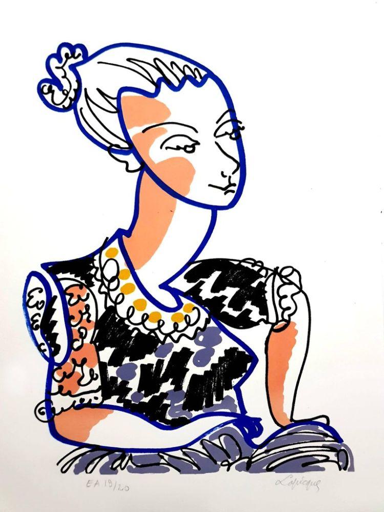 Lithograph Lapicque - Portrait