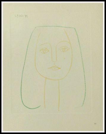 Pochoir Picasso (After) - PORTRAIT