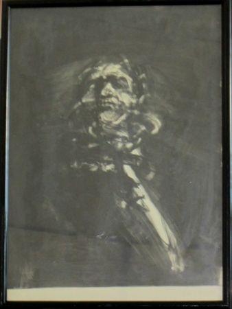 Lithograph Weisbuch - Portrait