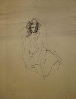 Drypoint Villon - Portrait