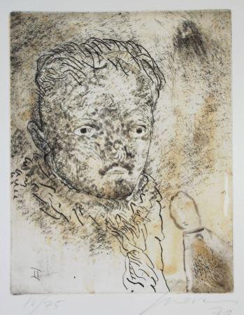 Etching And Aquatint Cuevas - Portrait