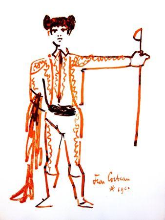 Lithograph Cocteau - Portrait