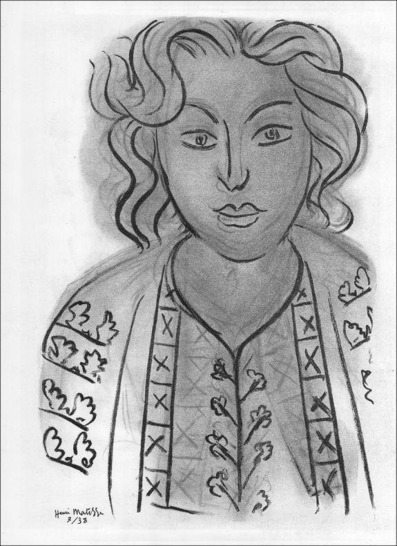 Lithograph Matisse - Portrait. 1938.