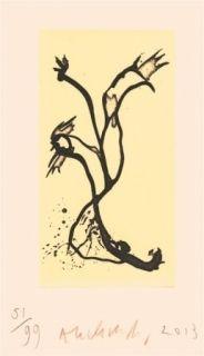 Engraving Alechinsky - Portrait aux 3 crayons