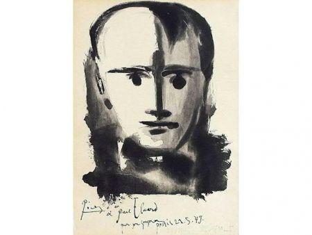 Aquatint Picasso - PORTRAIT D HOMME A LA MECHE
