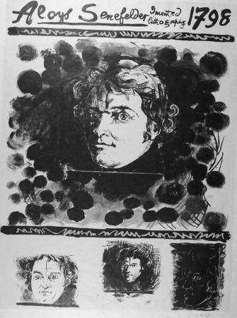 Lithograph Sutherland - Portrait d'Aloyis Senefelder