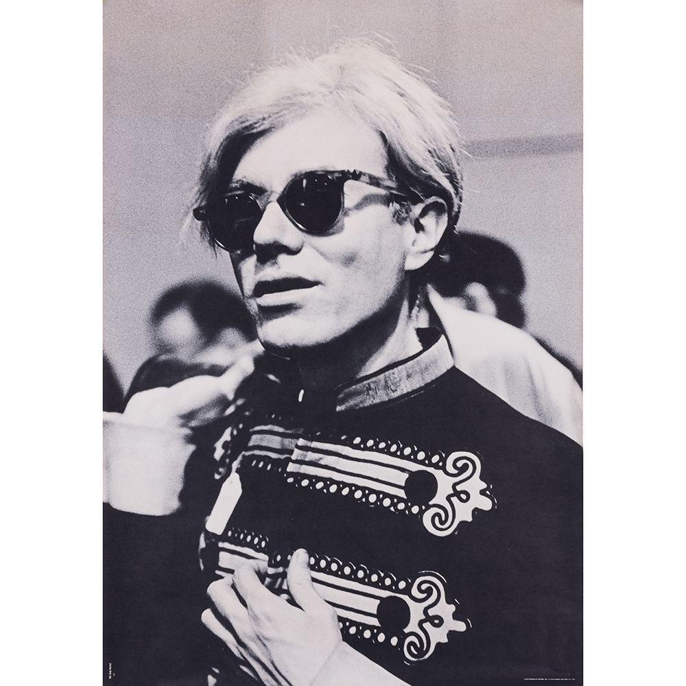 Poster Warhol - Portrait d'Andy Warhol en costume d'officier