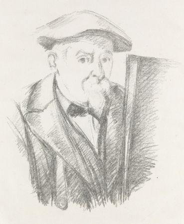 Lithograph Cezanne - Portrait de Cézanne par lui-même, c. 1898