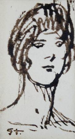 No Technical Steinlen - Portrait de femme