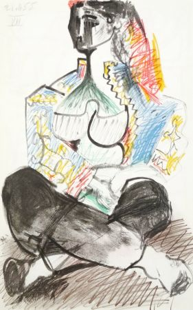 Lithograph Picasso - Portrait de femme