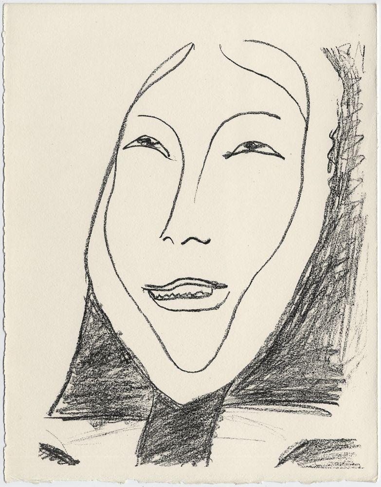 Lithograph Matisse - Portrait de femme esquimau n° 4. 1947 (Pour Une Fête en Cimmérie)
