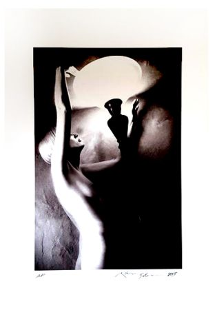 Lithograph Gibson - Portrait de Femme Nue