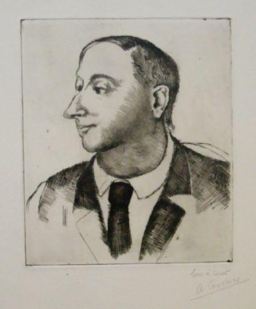 Engraving Courmes - Portrait de Jean Briance