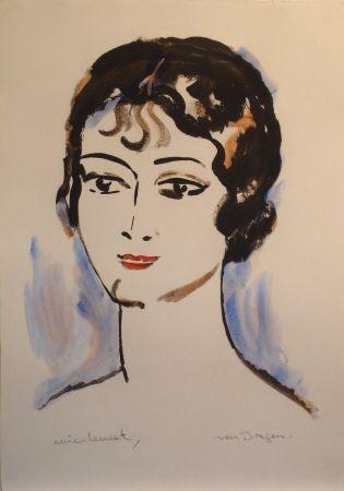 Lithograph Van Dongen - Portrait de Jeune Femme