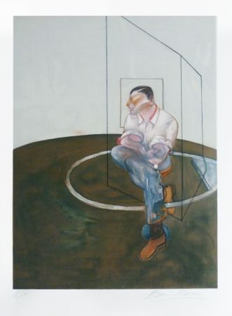Lithograph Bacon - Portrait de John Edwards