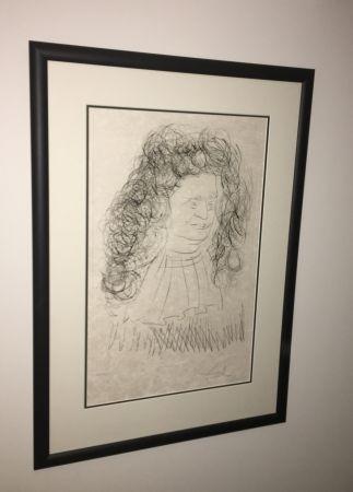 Etching And Aquatint Dali - Portrait De La Fontaine