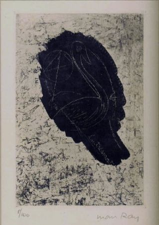 Etching And Aquatint Ray - Portrait de Lautreamont