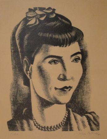 Woodcut Patocchi - Portrait de Madame Vreni Bonizzi