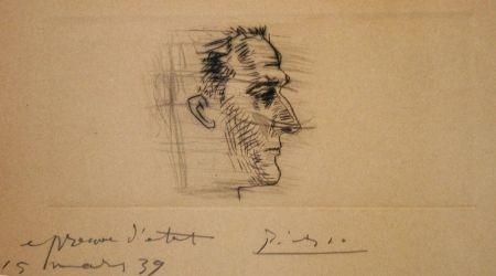 Drypoint Picasso - Portrait de Marcel Boudin