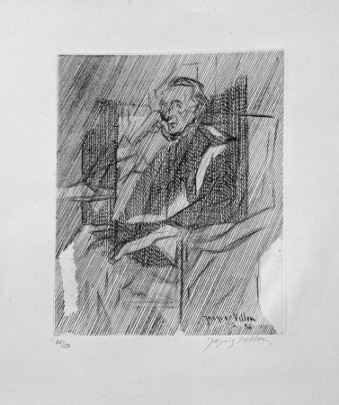 Etching Villon - Portrait de Marcel Duchamps